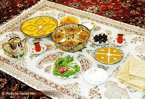 عکس سفره افطار ماه رمضان