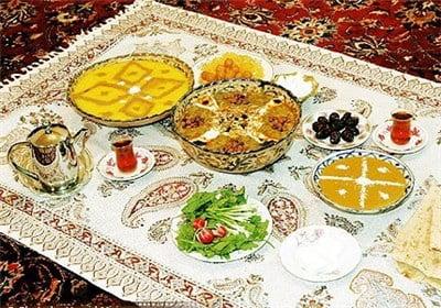 سفره افطار و سحری
