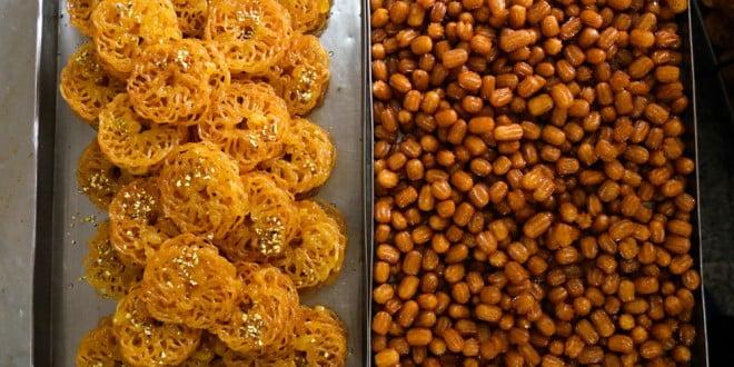 تهیه شیرینی زولبیا و بامیه ماه مبارک رمضان