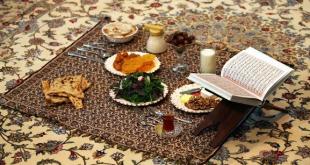سفره افطاری رمضان