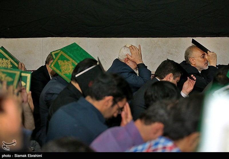 حضور ظریف و صالحی در مراسم احیای شب نوزدهم رمضان - وین