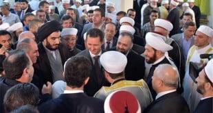 بشار اسد نماز عید فطر